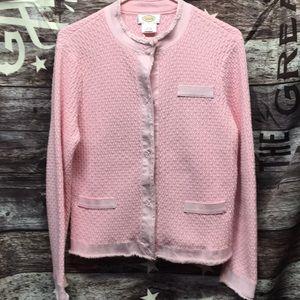 Talbots knit cardigan/ dress jacket